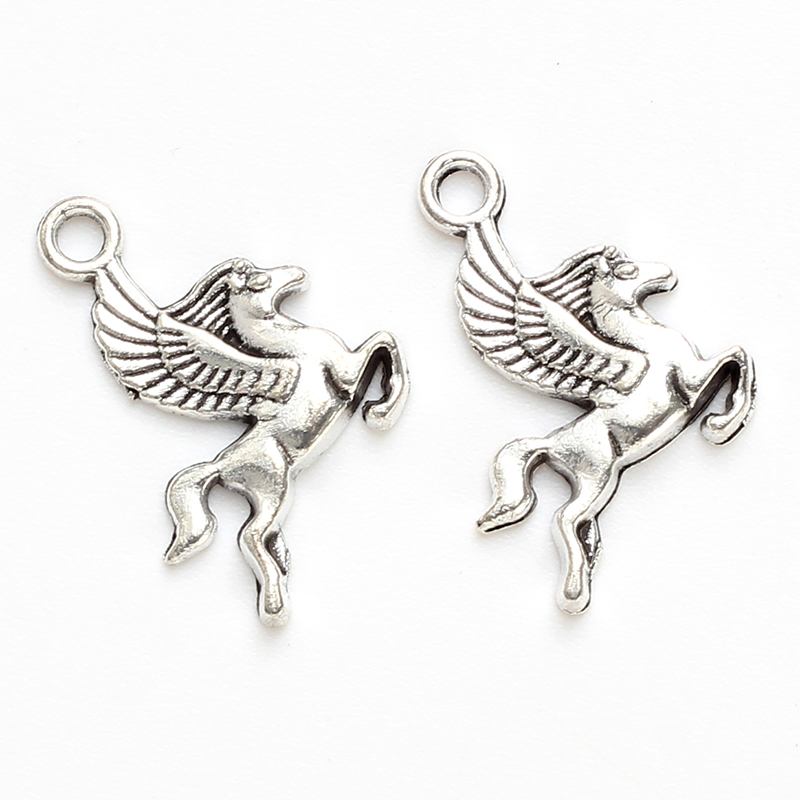 Lucky Eye Pegasus Horse Charm Alloy Silver Pendant Diy Jewelry Accessories Making Bracelet Necklace Keychain Ey4765 Jewelry Sets & More Charms