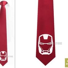 """Супер герой Железный человек жаккардовый тканый тонкий узкий галстук 2,"""" 6 см Галстук Свадебная вечеринка галстук для жениха запонки LK023M"""