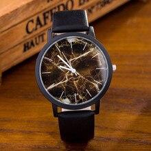 British Style Marble Clocks 2017 Hot Fashion Marbling Tarja Creative Men's Womens Quartz Watch Genuine Leather Wrist Watches