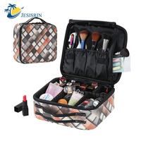 New PU Women Professional Empty Beauty Brush Makeup Organizer Cosmetic Case Travel Large Capacity Storage Bag Suitcases