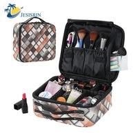 New PU Women Professional Empty Beauty Brush Makeup Organizer Cosmetic Case Travel Large Capacity Storage Bag Suitcases