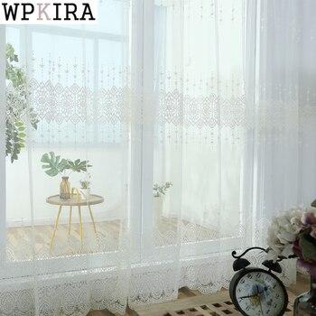 Hilo Blanco De Tul Cortinas Para Sala Dormitorio Ventana Boda - Cortinas-para-techo
