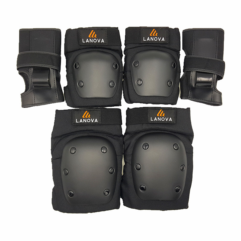 LANOVA Adult/Child Knee Pads Elbow Pads Wrist Guards 3 In1 protective gear Set For Multi Sports Skateboarding Inline Roller S цены онлайн