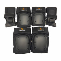 New 6pcs Set Children Adult Sports Safety Pad Wrist Hand Elbow Knee Pads Protective Gear Use
