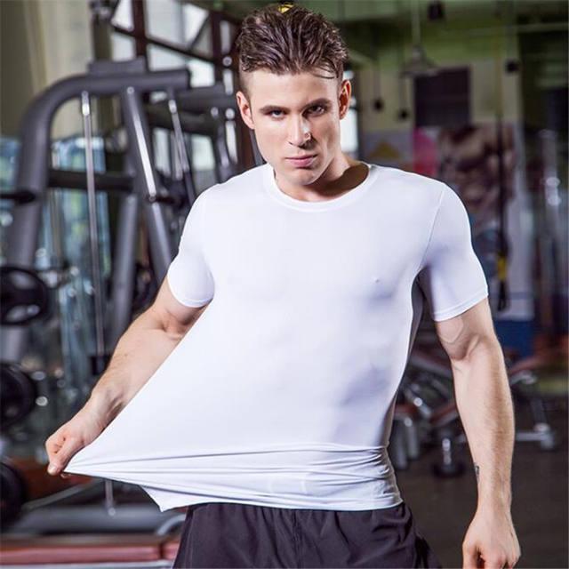 Men Pro Wicking&Quick-Drying T-Shirt,Elastin Compression Tight Short Sleeve Underwaer Undershirts,Sporting Protect,Anti Wrinkle