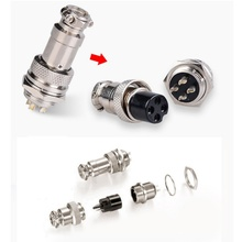 1 pcs Panel 2/3/4/5/6/7/8/9 Chip GX16 Male & Female Wire Aviation Plug Connector Circular Connector Socket