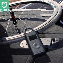 Stokta Xiaomi Mijia taşınabilir akıllı dijital lastik basıncı algılama elektrikli şişirme pompası bisiklet motosiklet araba için futbol