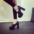 New Arrival Women High Heels Pointed Toe Causal Platform Wedges Comfort Faux Leather Slip on Sexy Elegant Party Shoes