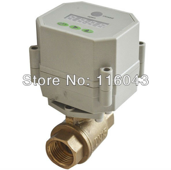AC/DC9-24V BSP/NPT 1/2'' Time Controlled motorized ball Valve for garden air compressor Drain water air pump water control 3 4 brass time control electric valve ac110v 230v bsp npt can be selected for garden water irrigation drain water air pump