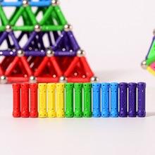 100 150 200pcs Magnet Bars Metal Balls Kids Magnetic Building Blocks Construction Educational DIY Toys Intelligence Toy Creation
