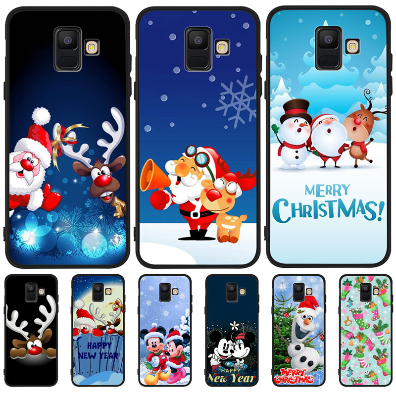 Merry Christmas Mickey Luxury For <font><b>Samsung</b></font> Galaxy A9 A8 A7 A6 A5 A3 J3 J4 <font><b>J5</b></font> J6 J8 Plus 2017 2018 phone Case Cover Coque Etui image