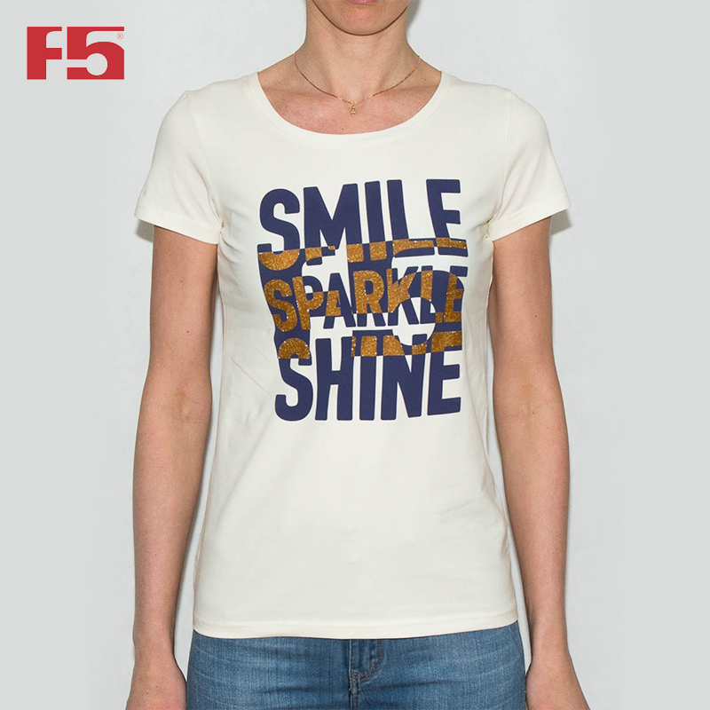 Female Tshirt F5 180057 cute print tshirt