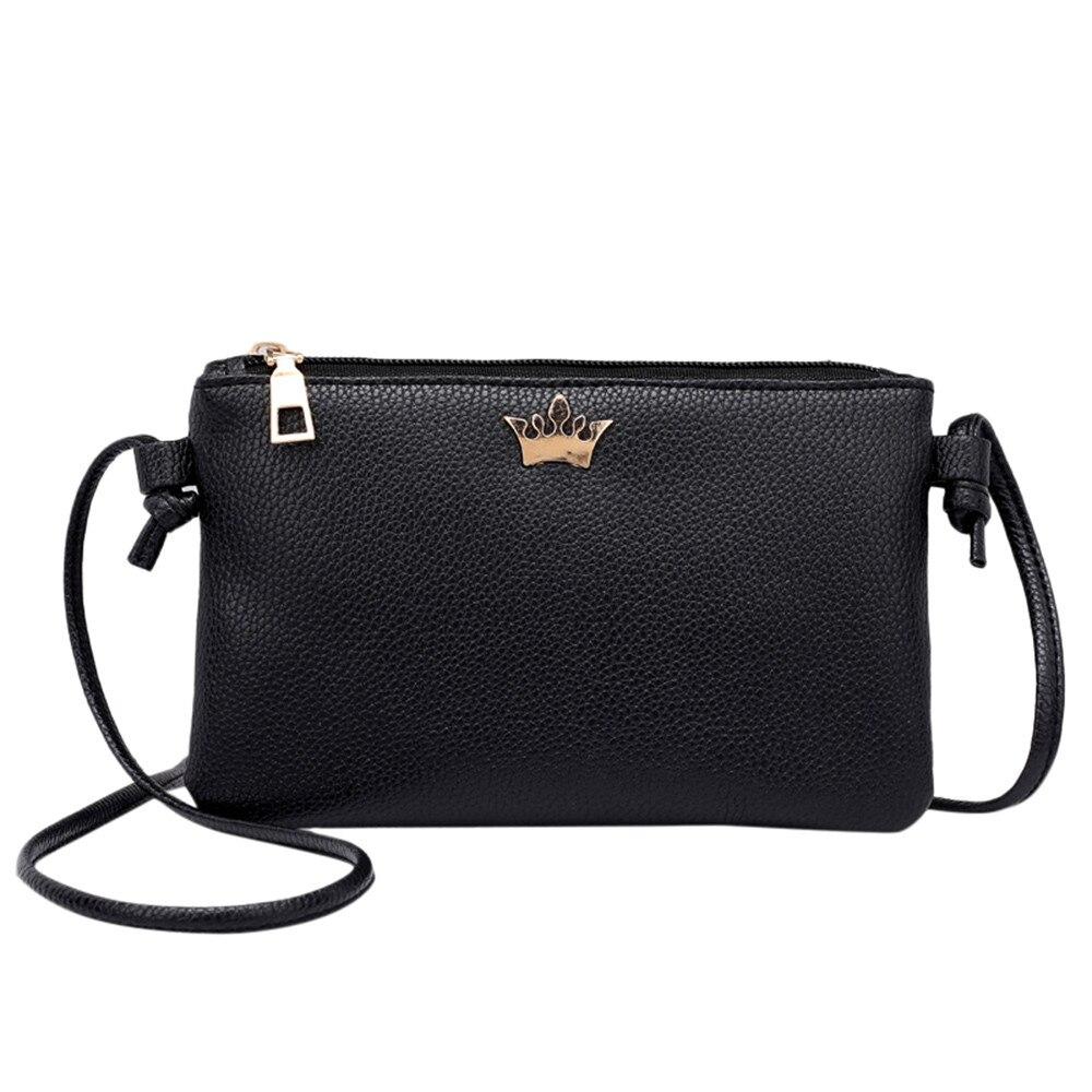 Новинка 2018 года женская кожаная сумка через плечо для девочек однотонная сумка для монет bolso mujer A1210