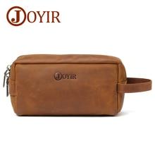 JOYIR Vintage Zipper Women Clutch Wallet Genuine Leather Wristlet Lady Bags Female Coin Purse Long Wallets