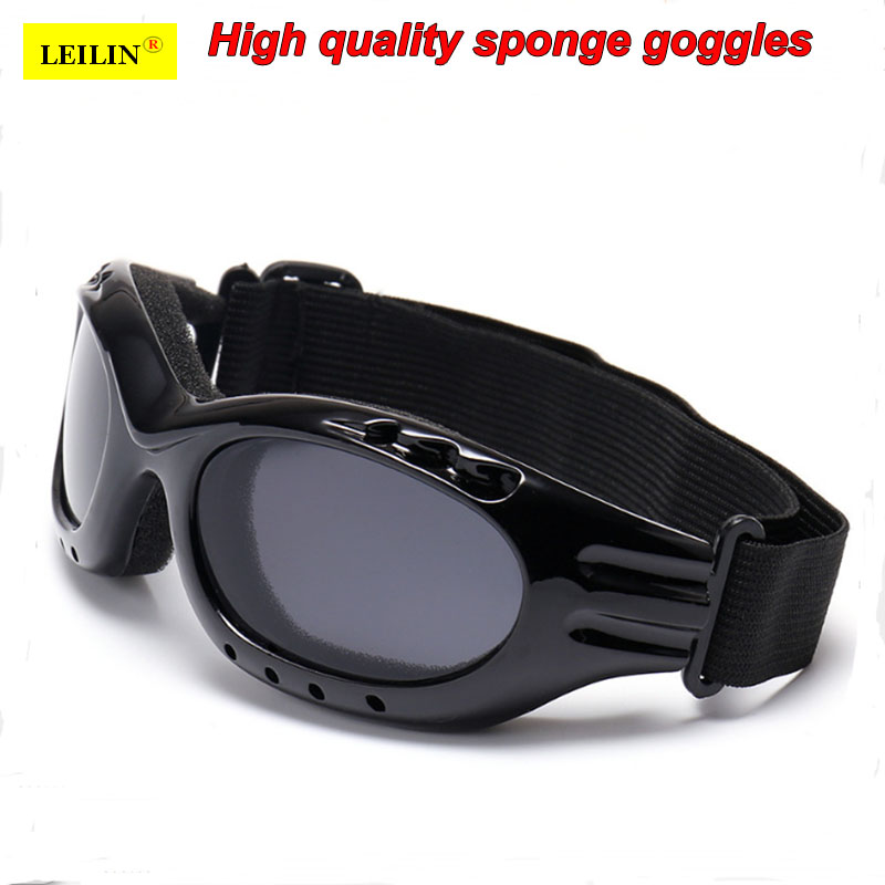 Blue And White Telescopic Legs Labor Insurance Glasses Dust-proof Anti-shock Eyepiece Flat Transparent Blindfold Safety Goggles