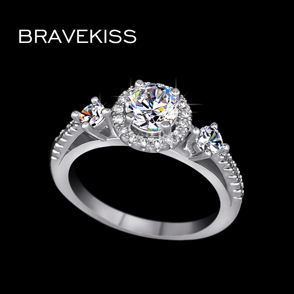 classic women jewelry solitaire engagement from in bands mujer aaa zircon item anillos cathedral bravekiss band platinum bravkis wedding simple for rings