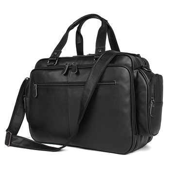 MAHEU Brand Designer Men Briefcase Soft Cow Leather Laptop Bag For Business Travel Tote Bag Male Black Brown Briefcase Bag - DISCOUNT ITEM  30% OFF All Category