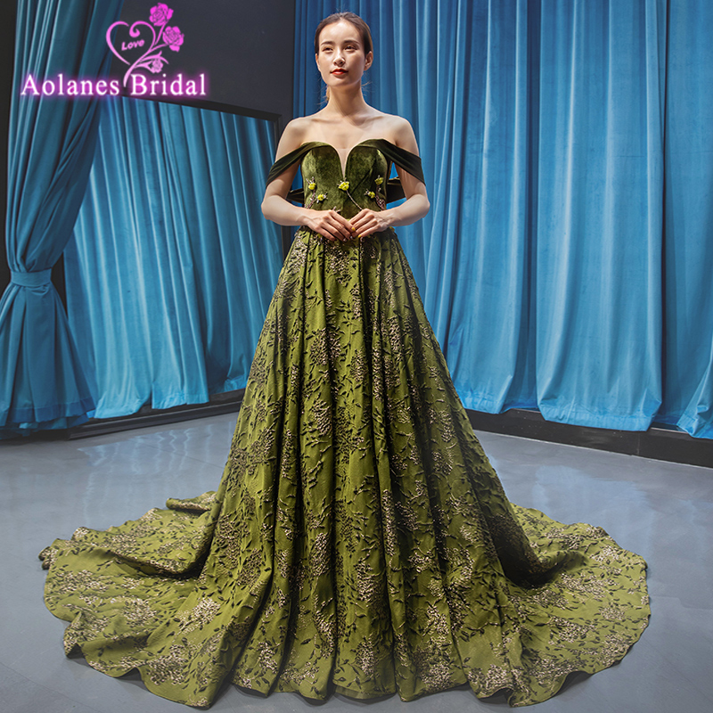 Gorgeous Rose Green Sequined   Prom     Dresses   2019 Sparkle Sequin A-line   Prom   Gowns Sexy Backless Abiye Party   Dress   Robe De Soiree
