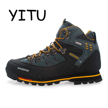 YITU Breathable Outdoor Hiking Shoes Camping Mountain Climbing Hiking Boots Men Waterproof Sport Fishing Boots Trekking Sneakers 1