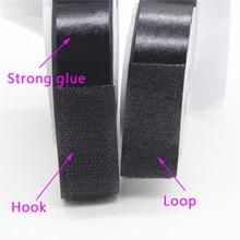 High Bonding Width 2.5cm*10m/Pairs Black White Nylon Hook & Loop Self Adhesive Fastener Magic Tape Diy Craft Home Deco