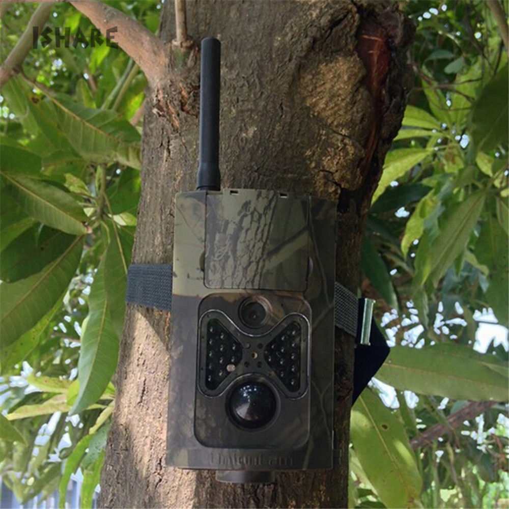 12MP Hunting Camera 1080P HD Infrared Night Vision Hunting Animal Wildlife Photo Trail GPRS GSM SMS Camera with Remote Control hc500m hd gsm mms gprs sms control scouting infrared trail hunting camera with 48pcs ir leds night vision wildlife surveillance