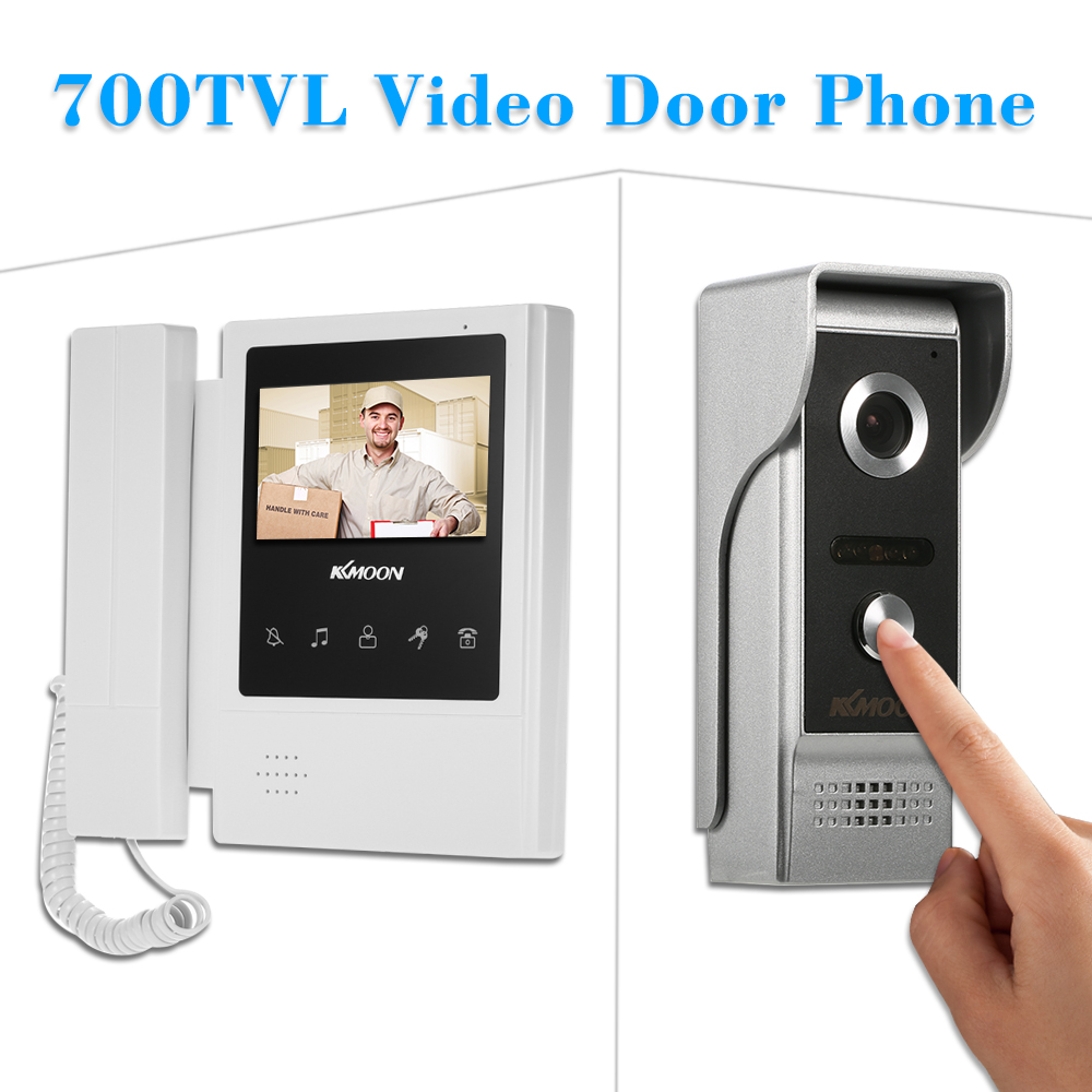 KKmoon 4.3'' Touch Screen Wired Video Door Phone System Visual Intercom Doorbell 800x480 Monitor 700TVL Outdoor Infrared Camera-in Video Intercom from Security & Protection    3