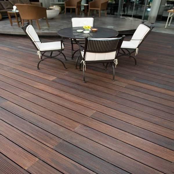 Xtr bamboo decking profile a strand woven outdoor better for Garden decking ornaments