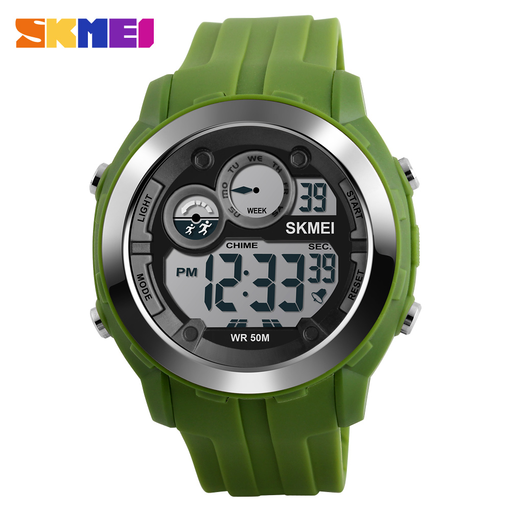 SKMEI Fashion Casual Men Sports Watches LED Digital Electronic Watch 50M waterproof Swimming Watch