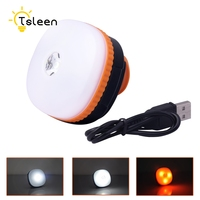 TSLEEN 1PC Portable Camping Lights LED Camping Lantern Magnetic Tents Lamp Outdoor USB Rechargeable Lamp 4