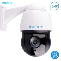 Inesun Outdoor 36X Optical Zoom PTZ IP Security Camera 5MP Super HD High Speed Dome Camera Laser IR Night Vision up to 500 ft