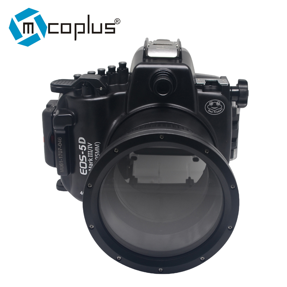 Mcoplus 40m 130ft Diving Camera Waterproof Housing Case for Canon EOS 5D Mark III IV 40m 130ft waterproof diving underwater dslr camera housing case for canon g9x