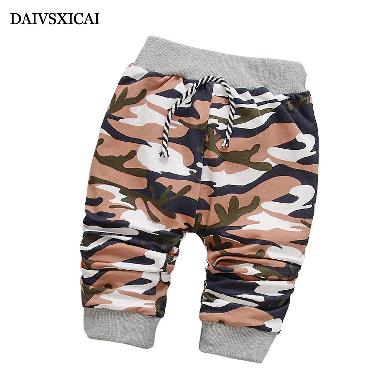 Daivsxicai  Spring Newborn Boy Pants Baby Fashion Camouflage Pants For Baby Casual Lovely Autumn Cotton Children Pants 7-24M