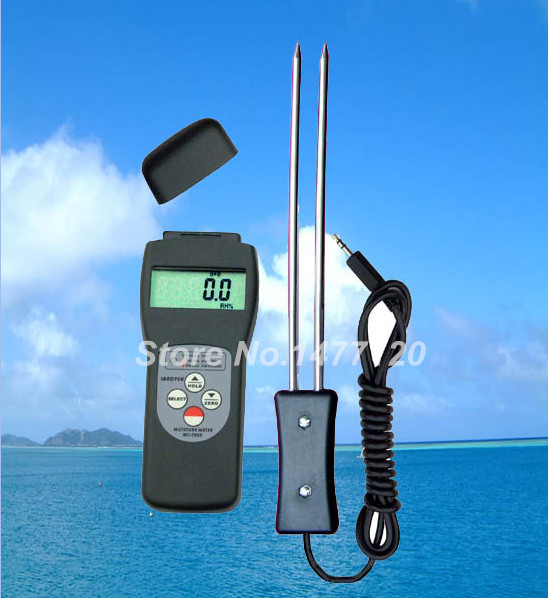 Digital Grain Moisture Meter MC7825G with Wheat Paddy Rice Maize Bean Oat Coffee Seed Pea Moisture Meter Tester digital multi grain moisture meter tester rice wheat rye peas corn oat 6 30% tk25g