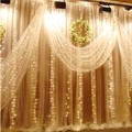 3M x 3M Christmas Garlands LED String New Year Lights Fairy Xmas Party Garden Wedding Decoration Curtain fairy Light