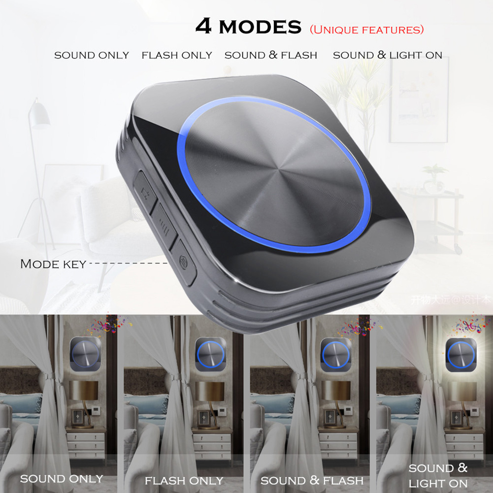 Safety Home No Battery Easy Install Night Light Smart Button Wireless Memory Function Self-powered Door Bell Cordless WaterproofSafety Home No Battery Easy Install Night Light Smart Button Wireless Memory Function Self-powered Door Bell Cordless Waterproof