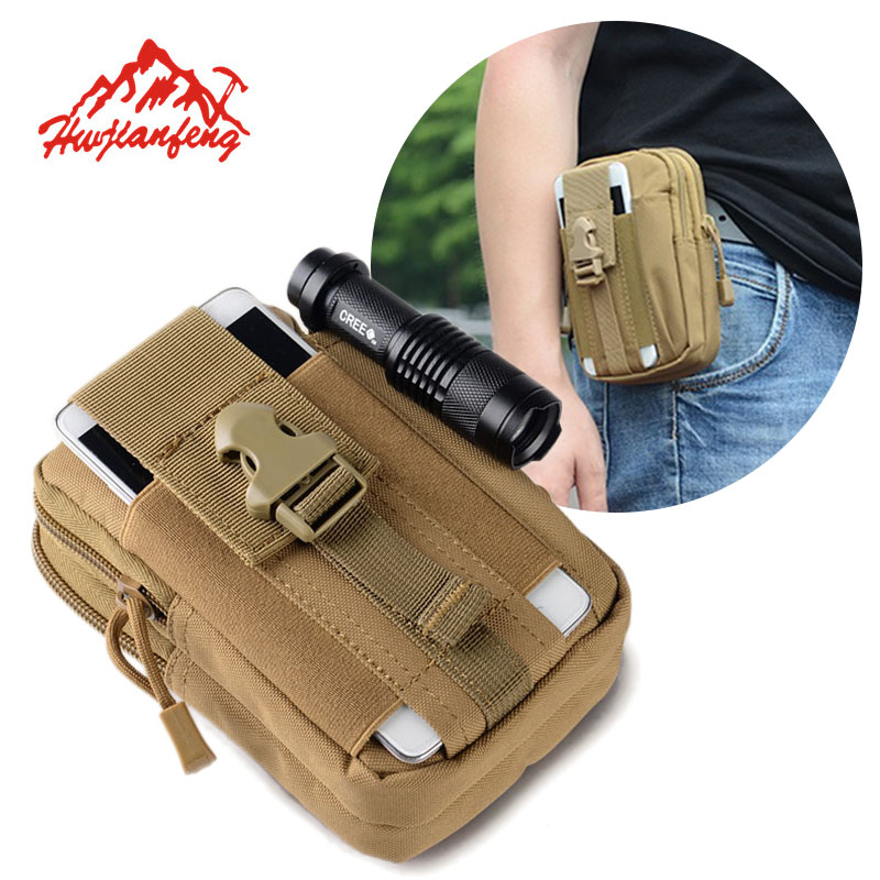 Men Tactical Molle Pouch Belt Waist Pack Bag Small Pocket Military Waist Pack Phone Pouches Outdoor Running Travel Camping Bags