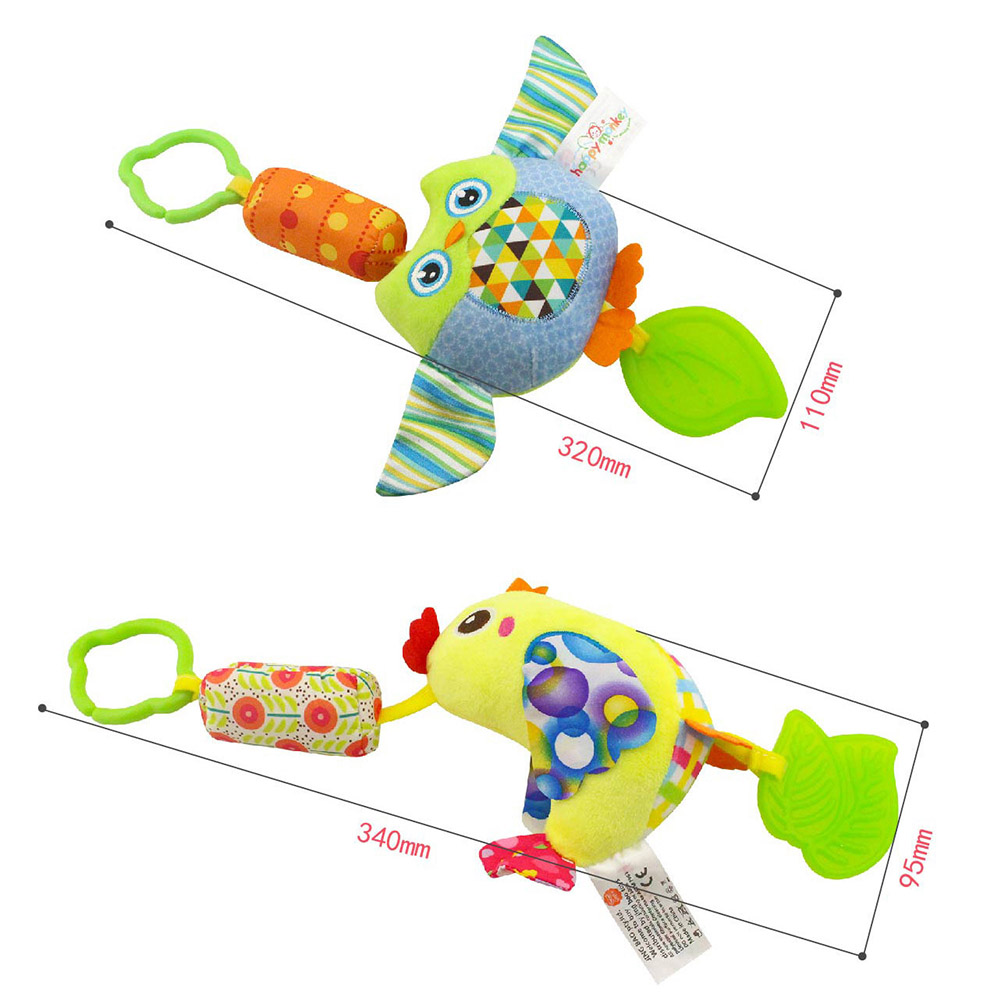 Infant-Wind-Chimes-Plush-Toys-Hanging-Newborn-Crib-Car-Lathe-ButterflyBirdChicksOwl-Animal-Baby-Bed-Rattles-Bell-Toy-3