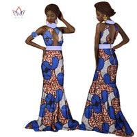 Brw 2017 الأزياء أفريقيا فساتين للنساء dashiki جنسي طويل فساتين القطن طوق الملابس الأفريقية الشمع طباعة ثوب زهرة WY1273