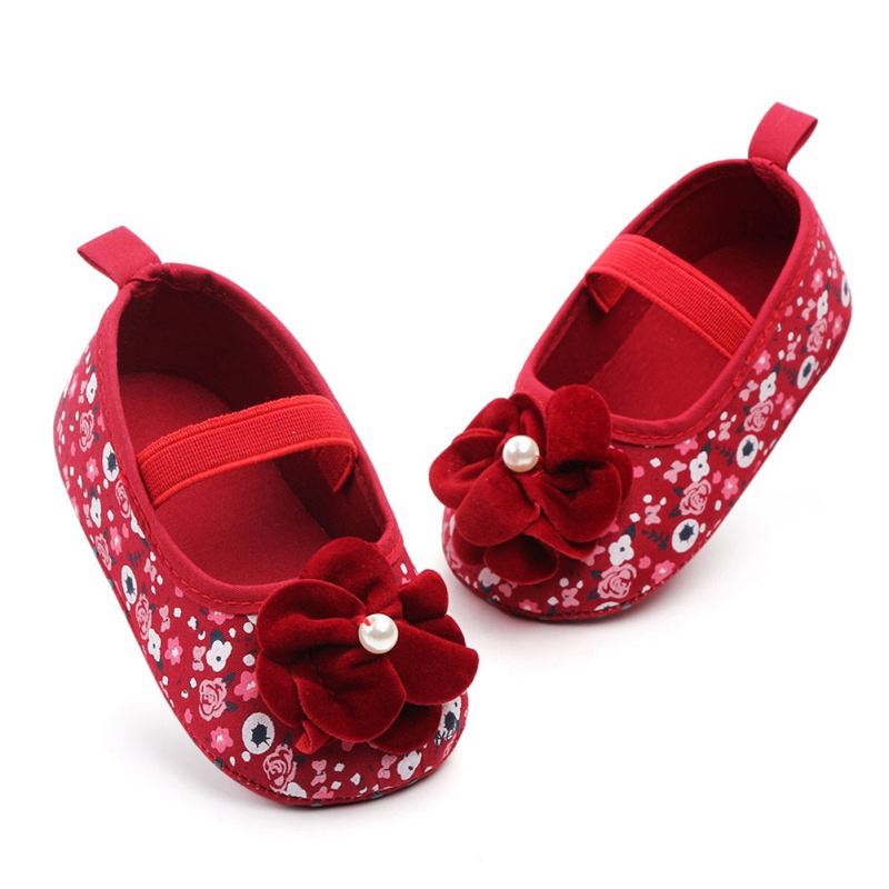Baby Girls Shoes Infant Toddler Princess Floral  Prewalkers Anti-skid Mary Jane Crib First Walkers Newborn Shoe Spring Autumn