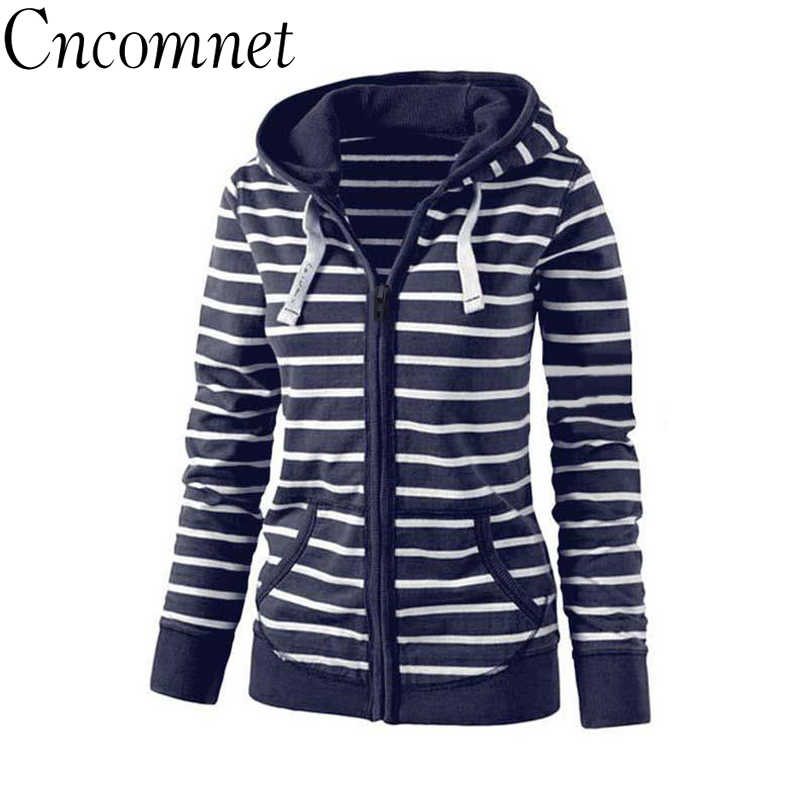 ee72dc4b400db Detail Feedback Questions about Large Size Long Sleeve Striped Coats Fashion  Casual Full New Style Spring Hoodies Sweatshirt For Women Plus Size S 4XL  on ...