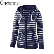 Large Size Long Sleeve Striped Coats Fashion Casual Full New Style Spring Hoodies Sweatshirt For Women Plus Size S-4XL