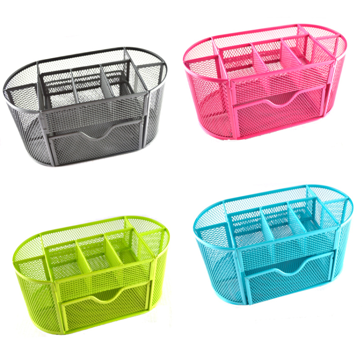 Metal pen holder Mesh Desk Organizer mesh pen holders Storage Box Metal desk storage Holder Office Home Supplies iron pen holder creative diy paper desktop storage box office stationery pen holders pen storage rack desk organizer