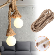 Retro Vintage Hemp Rope Wire Fabric Electrical Cord Lighting Accessories 2.5M