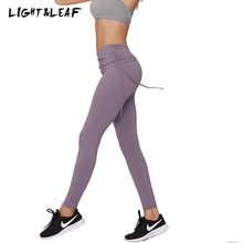 light&leaf women workout gyms Lycra patchwork high waist ties leggings new fashion casual girls brand quality beauty