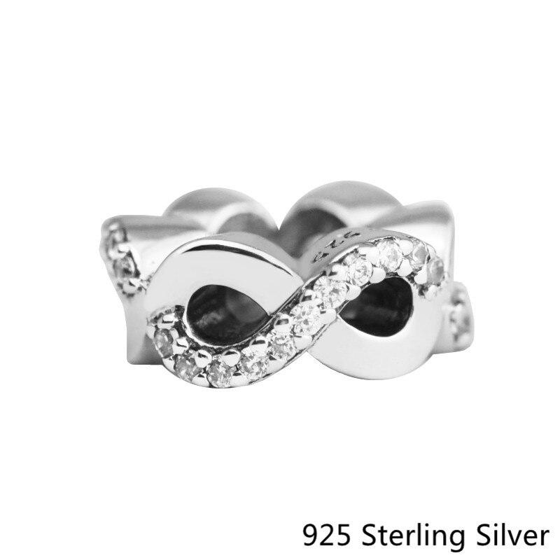 CKK amour infini charmes 925 perles en argent Sterling bijoux originaux bricolage faisant des ajustements pour Bracelets et braceletCKK amour infini charmes 925 perles en argent Sterling bijoux originaux bricolage faisant des ajustements pour Bracelets et bracelet