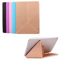 Case For Ipad Pro 12 9 Inch Multi Folded Protective Premium PU Leather Changeable Case For