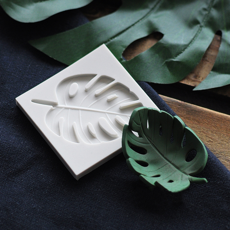 Leaves Silicone Mold <font><b>Fondant</b></font> Mould <font><b>Cake</b></font> <font><b>Decorating</b></font> <font><b>Tools</b></font> Chocolate Gumpaste Mold Sugarcraft Kitchen <font><b>Accessories</b></font> image