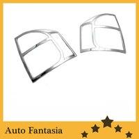 Cubiertas de luz trasera cromadas para Jeep Compass 07 12|tail light covers|light trim|trim cover -