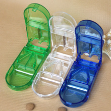 Pill Cutter Box Portable Convenient Storage Tablet Splitter Medicine Holder Cuter box