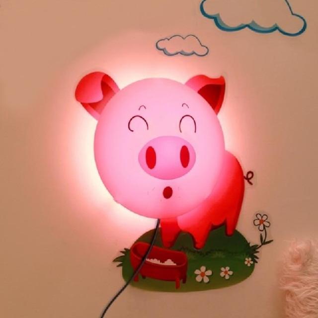 Aliexpress Buy Night Light Creative Cartoon Wallpaper Lamp Lovely Animal Flowers Children Sleep Bedlight Baby Bedroom From Reliable